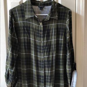 TORRID Green Plaid Shift Dress